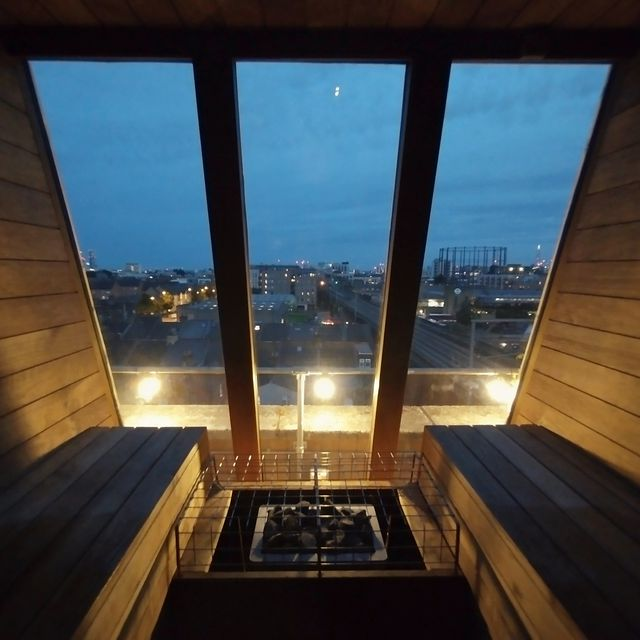 The brand new NETIL360 Rooftop Sauna experience